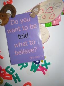 An atheist leaflet?